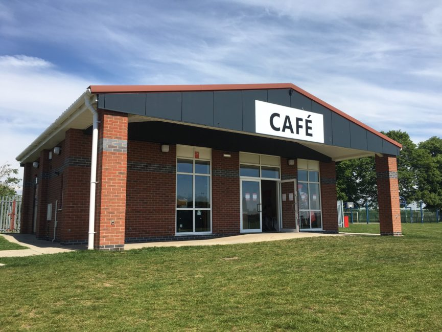 The outside of Reach Cafe as pictured on opening day, 24th May 2019