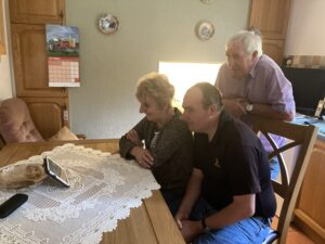The Jowett family at home Zooming