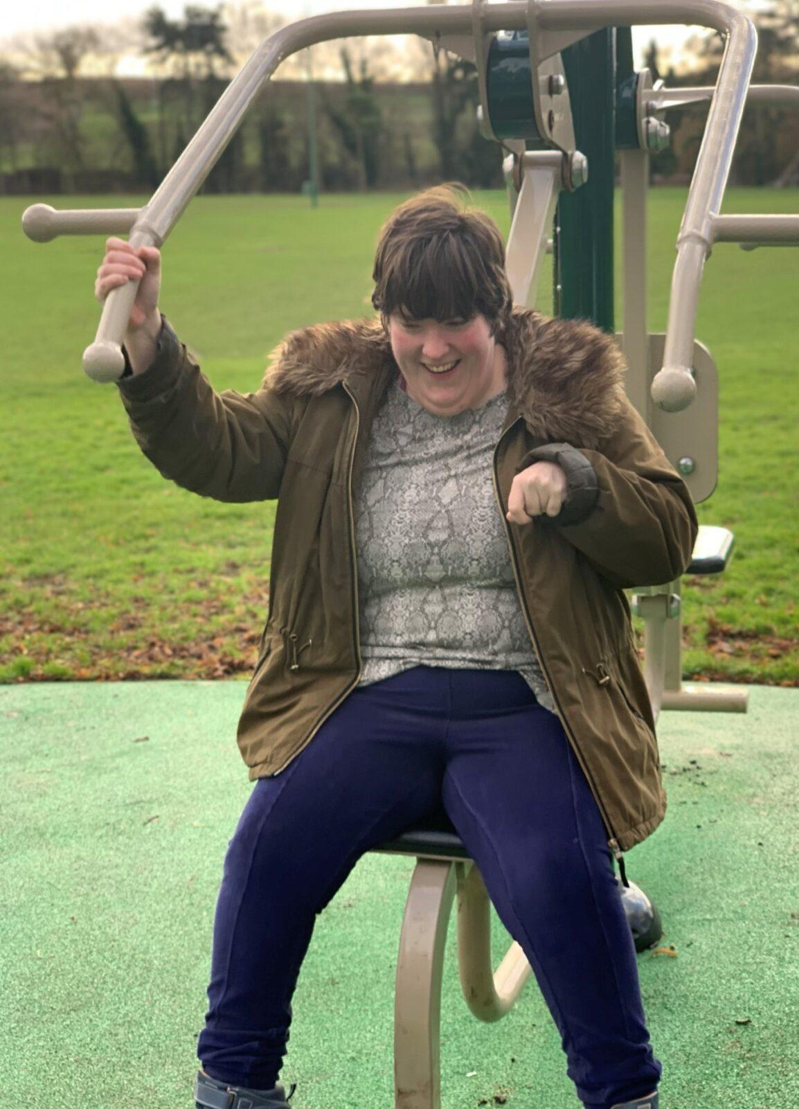 Chelsea enjoying the park in Southwell